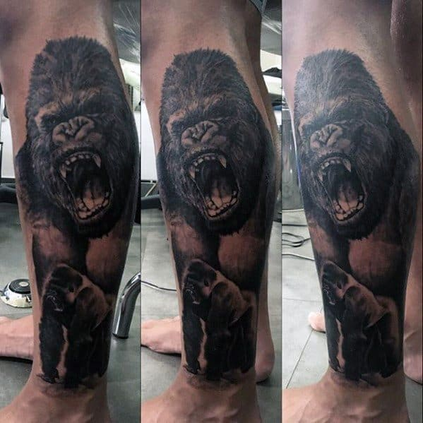 Amazing Mens King Kong Tattoo Designs