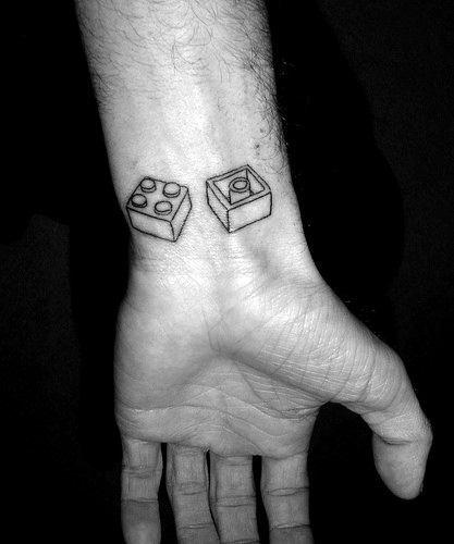 Amazing Mens Lego Tattoo Designs