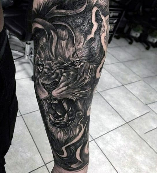 Amazing Mens Lion Forearm Sleeve Tattoo Ideas