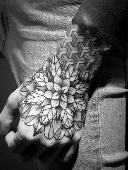 Amazing Mens Mandala Tattoo Designs On Hand