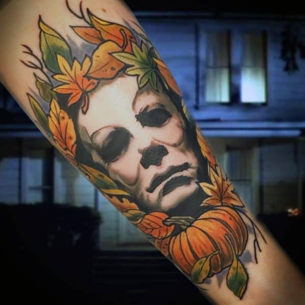 d54ee5631b627 60 Michael Myers Tattoo Ideas For Men - Halloween Slasher Designs
