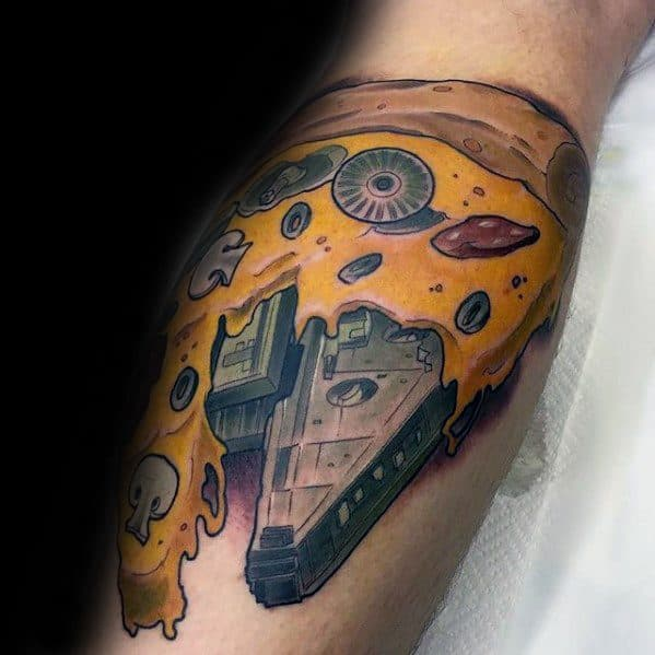 Amazing Mens Millennium Falcon Tattoo Designs