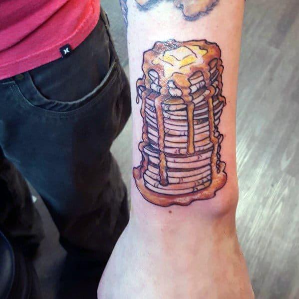 Amazing Mens Pancake Tattoo Designs