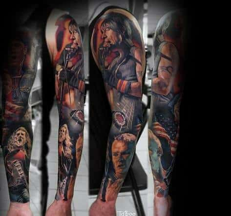 Amazing Mens Red Hot Chili Peppers Tattoo Designs