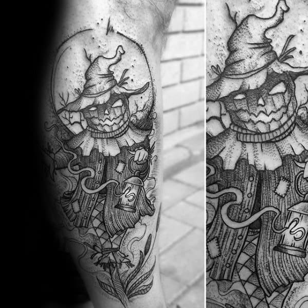 Amazing Mens Scarecrow Tattoo Designs