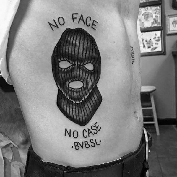 Amazing Mens Ski Mask Tattoo Designs