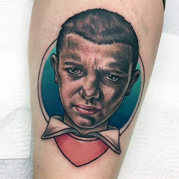 Amazing Mens Stranger Things Tattoo Designs