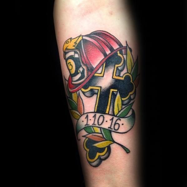 Amazing Mens Traditional Cross Tattoo Designs