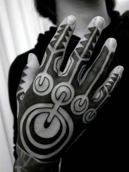 Amazing Mens Tribal Handed To Design Ideas