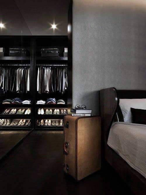 Amazing Mens Walk In Closet Attached To Bedroom