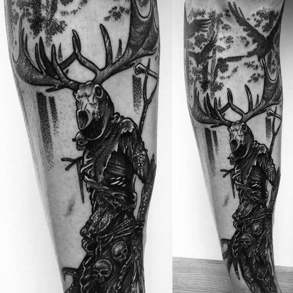 Amazing Mens Witcher Tattoo Designs