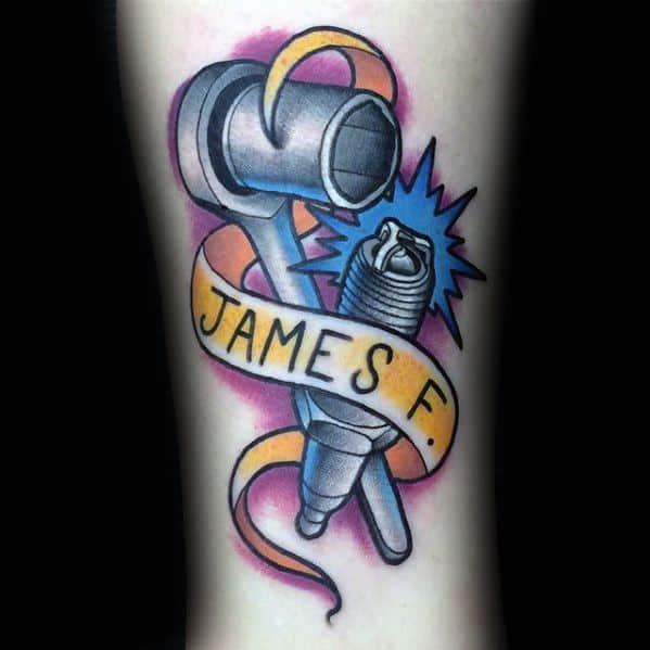 Amazing Mens Wrench Tattoo Designs