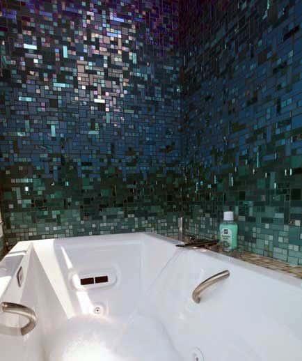 Amazing Mosiac Colorful Bathtub Tile Ideas