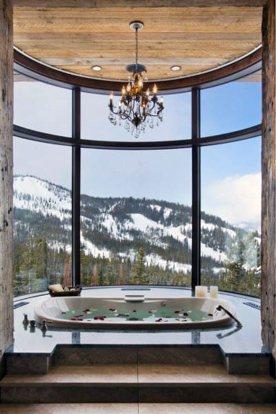 Amazing Mountain View Rustic Bathroom Ideas