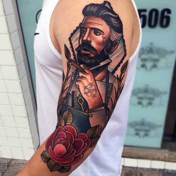 Amazing Neo Traditional Art Tattoo Mens Arms