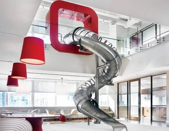 Amazing Office Building Indoor Slide Ideas