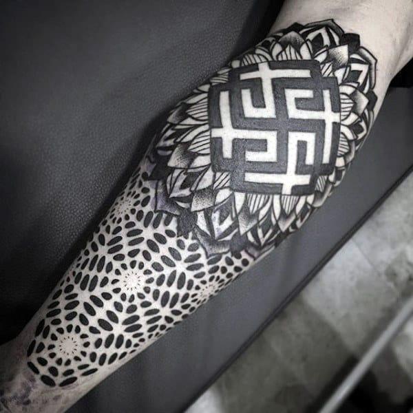Amazing Pattern Tattoo Male Forearms