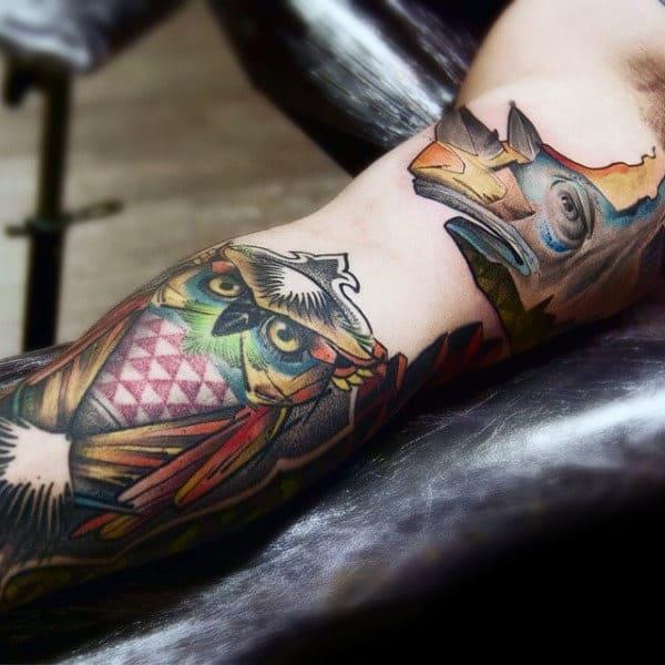 Amazing Rhino Mens Inner Arm Tattoos