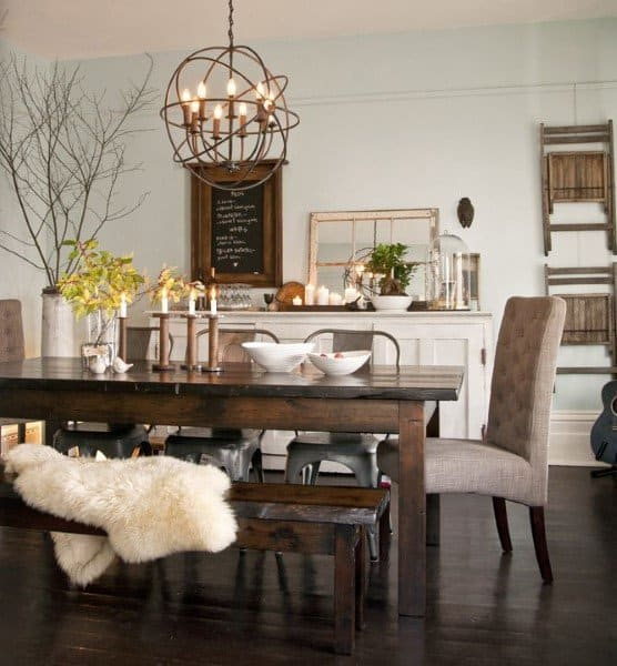 Top 40 Best Rustic Dining Room Ideas - Vintage Home Interior ...