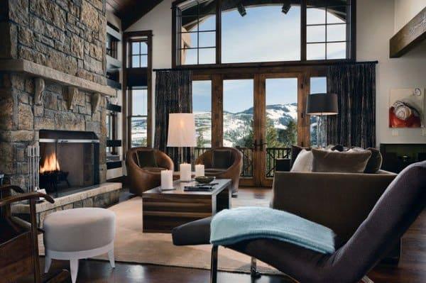 rustic colorful vintage living room ideas | Top 60 Best Rustic Living Room Ideas - Vintage Interior ...