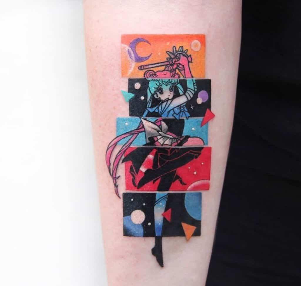 Amazing Sailor Moon Tattoo