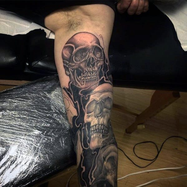 Amazing Skull Sleeve Tattoos For Men
