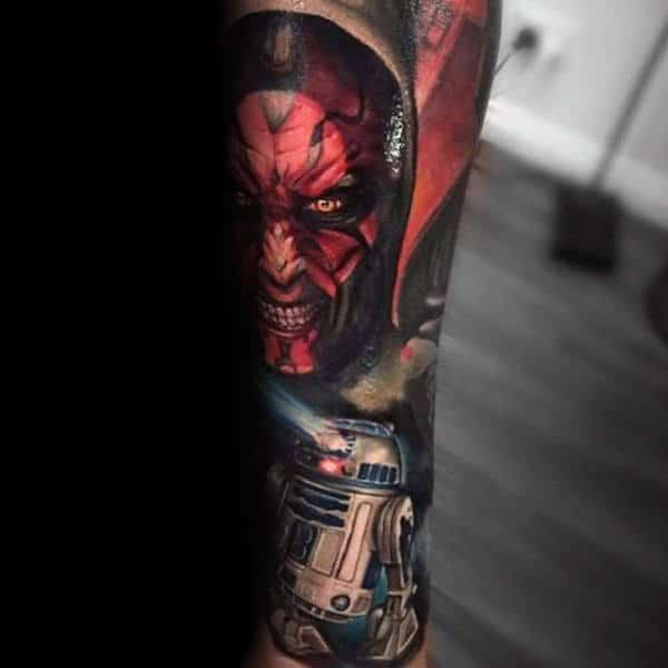 Amazing Sleeve Star Wars Tattoo Male Forearms