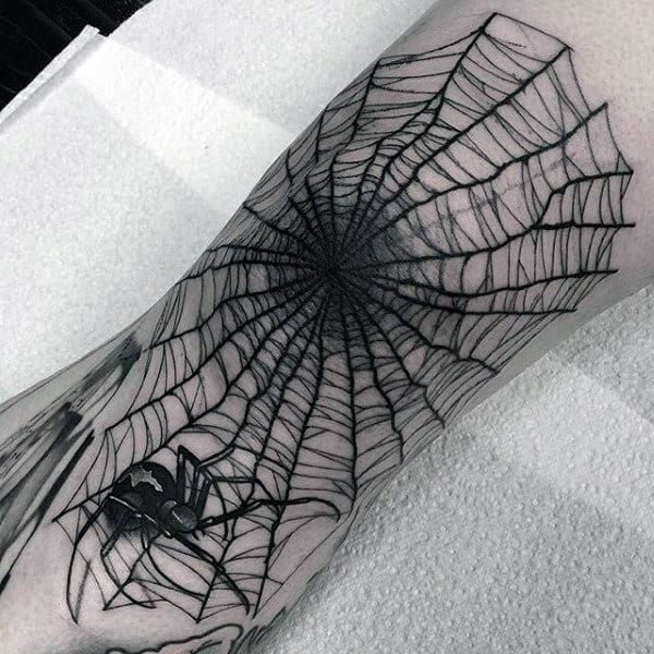 Top 79 Spider Web Tattoo Ideas 2020 Inspiration Guide