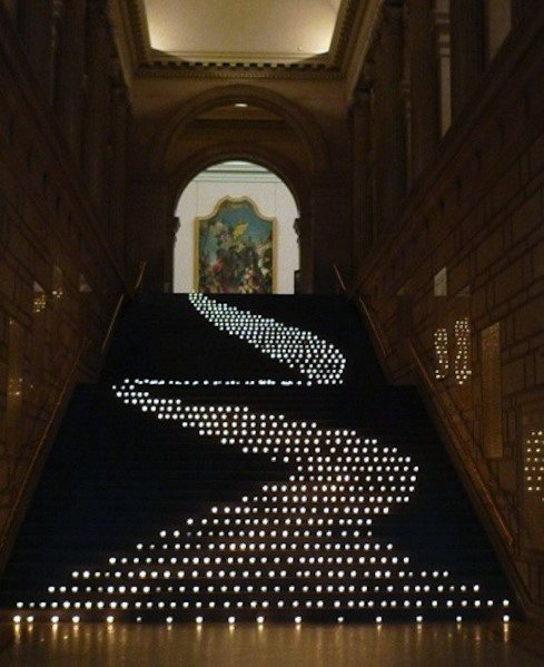 Amazing Staircase Lighting Inspiration With Pattern Leds