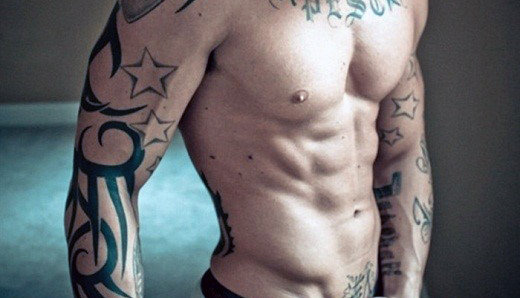 Amazing Star Tattoo For Guys