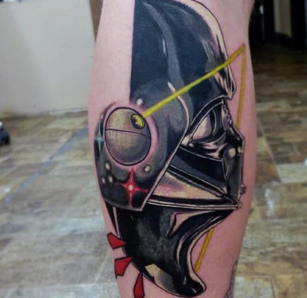 Amazing Star Wars Tattoo Male Lower Legs