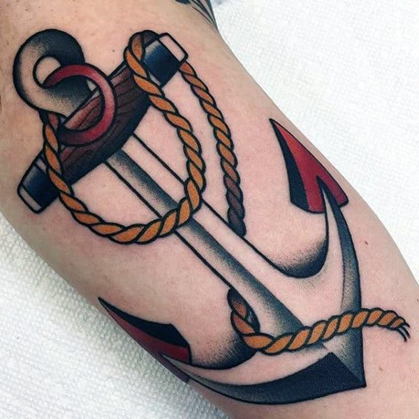 Amazing Traditional Anchor Mens Arm Tattoo Ideas