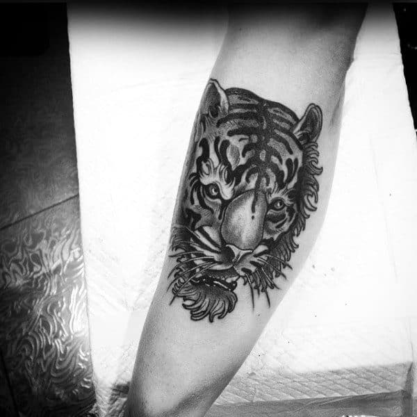 0f34a6874 75 Traditional Tiger Tattoo Designs For Men - Striped Ink Ideas