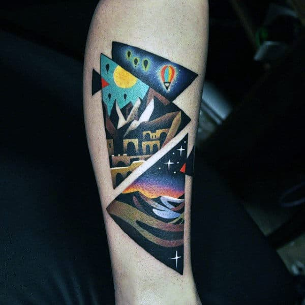 Amazing Triangle Adventure Tattoo Ideas