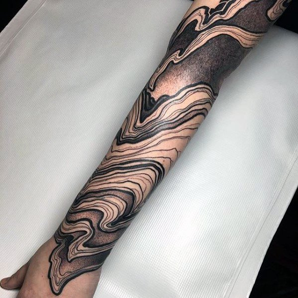 Amazing Unique Forearm Sleeve Tattoo Designs For Gentlemen