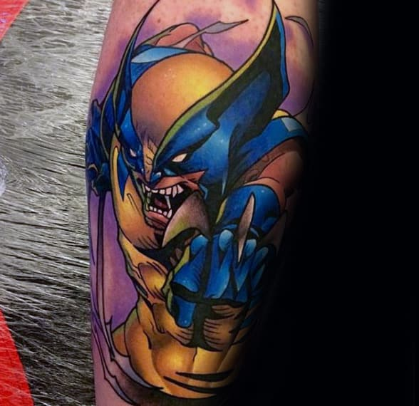 Amazing Wolverine Male Tattoo Sleeve Ideas
