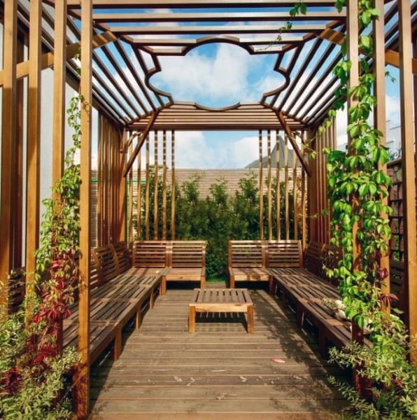 Amazing Wood Pattern Pergola Ideas