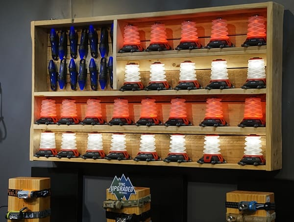 American Flag Themed Wall Art With Led Camping Lanterns
