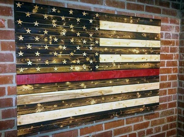 American Flag Wood Art Diy Man Cave Ideas