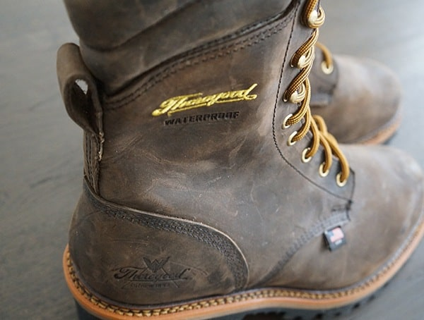 American Made Thorogood Logger Series 9 Inch Brown Crazyhorse Waterproof Work Boots