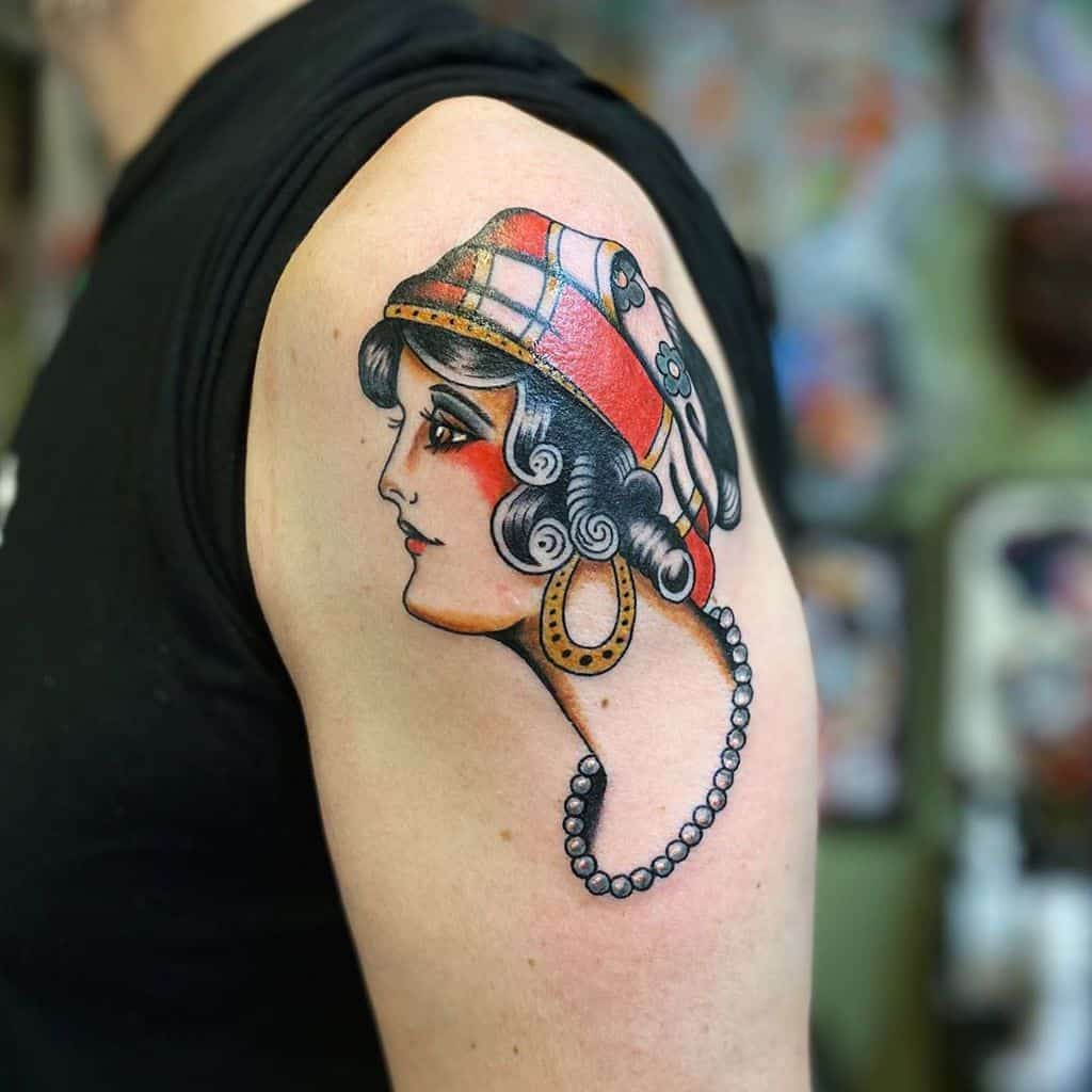 Americana Traditional Gypsy Tattoo