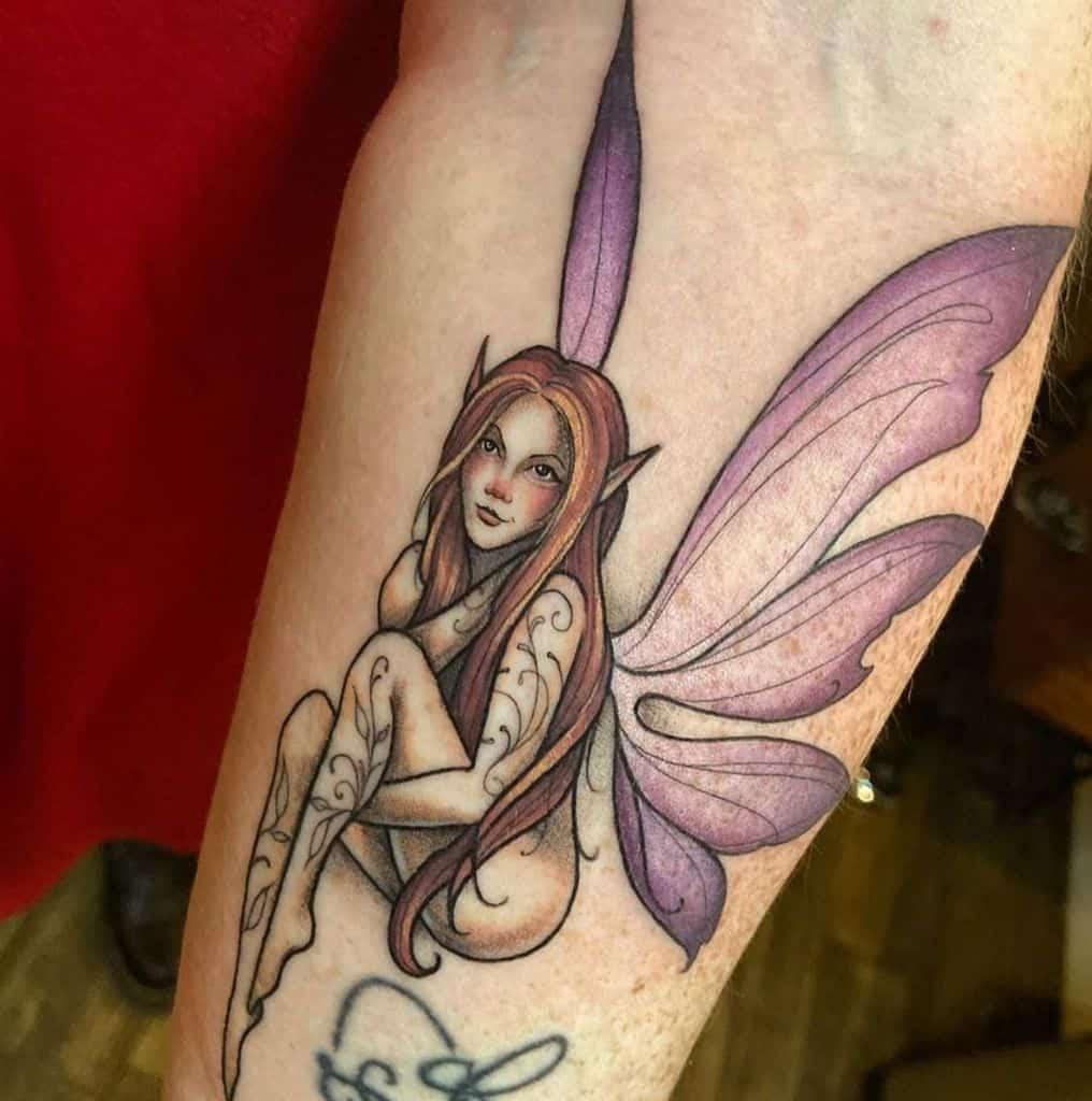 Amityville Color Fairy Tattoo