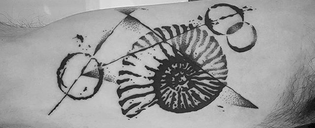 Ammonite Tattoo Designs For Men
