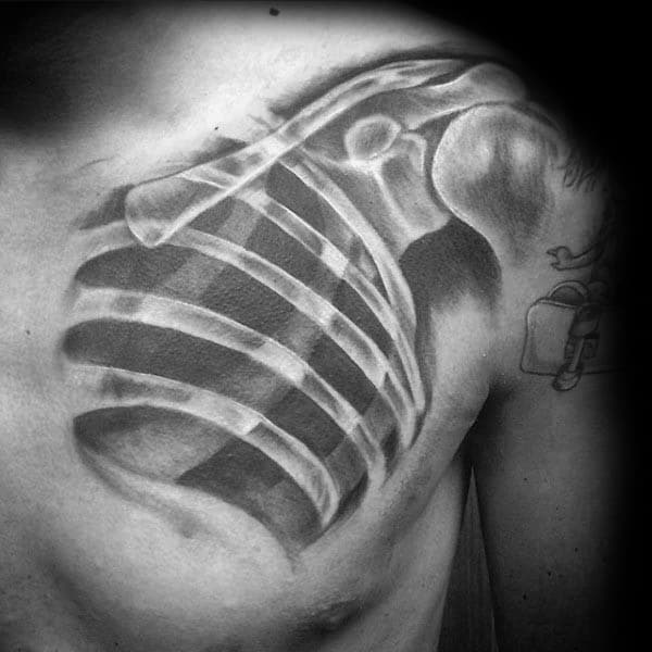 Anatomical Tattoo Design Ideas For Men Chest X Ray