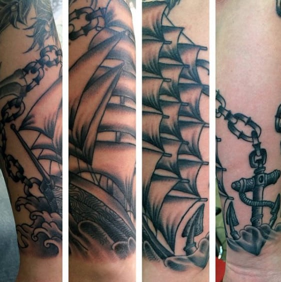 Anchor And Chain Tattoo For Men
