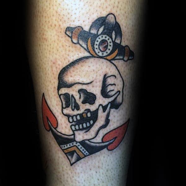 50 Traditional Skull Tattoo Designs For Men