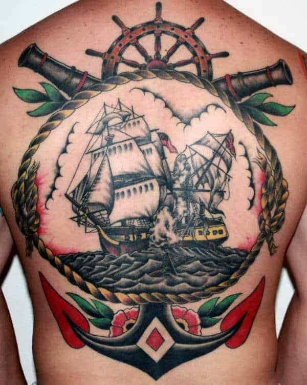 anchor-with-ship-traditional-male-tattoo-on-back