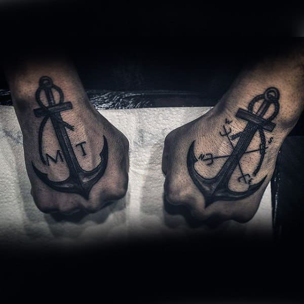 Anchors Insane Hand Tattoos For Guys