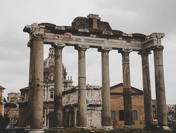 Ancient Government Buildings At Roman Forum