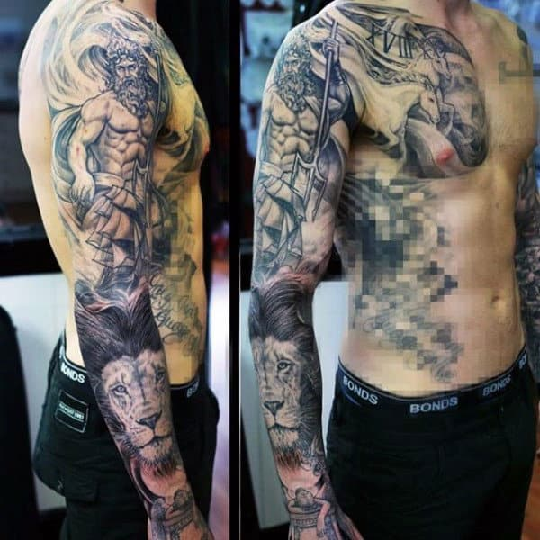 Ancient Greek Tattoos For Men Full Sleeve